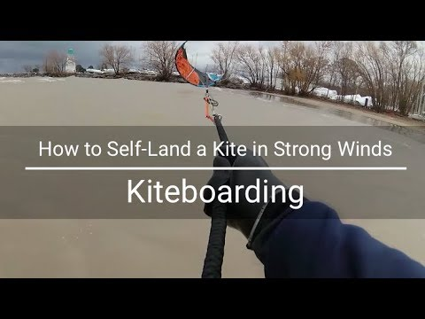 How To Self-Land a Kite in High Winds | Kiteboarding | HD YI4k