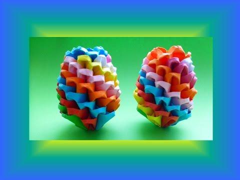 diy origami modular regenbogen osterei geschenk zu ostern rainbow easter egg tutorial gift. Black Bedroom Furniture Sets. Home Design Ideas