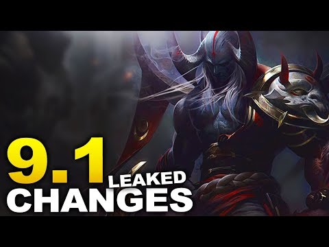 Changes coming soon to start Season 9! 9.1 patch notes leaked!