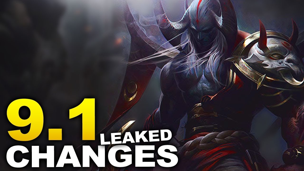 Changes coming soon to start Season 9! 9 1 patch notes leaked!