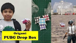 PUBG and Free Fire Air Box Drop Making - with real Parachute Drop in Real World | Easy DIY Craft