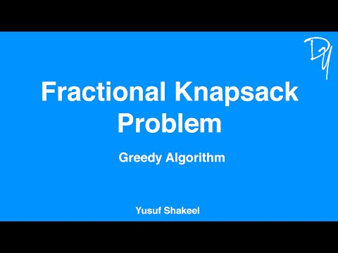Greedy Algorithm | Fractional Knapsack Problem #01 - step by step guide