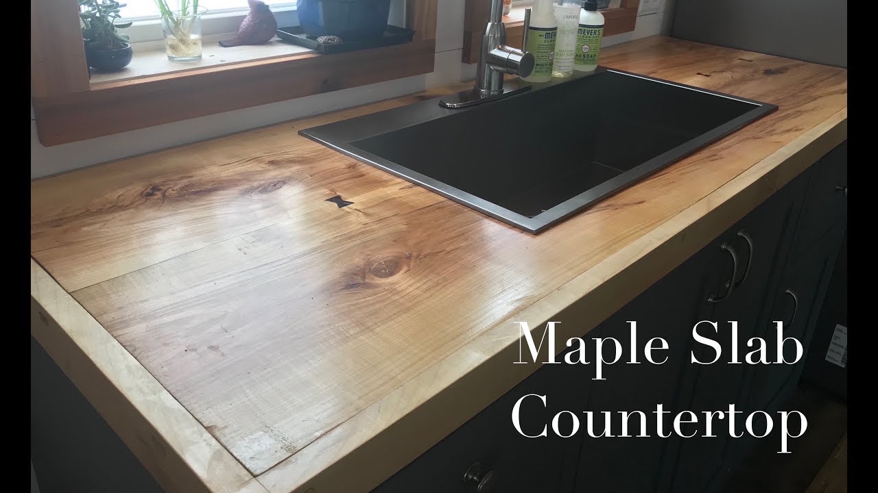 Ordinaire Making Kitchen Cabinets Part 6   Bookmatched Maple Slab Countertop