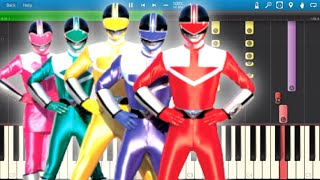 Power Rangers - TV Theme Song - Piano Tutorial - Synthesia Cover