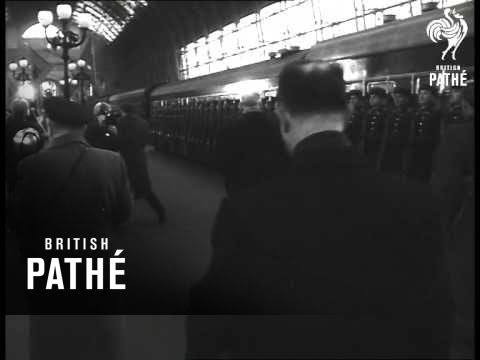 Delegation From Albania Arrive In Moscow (1957)