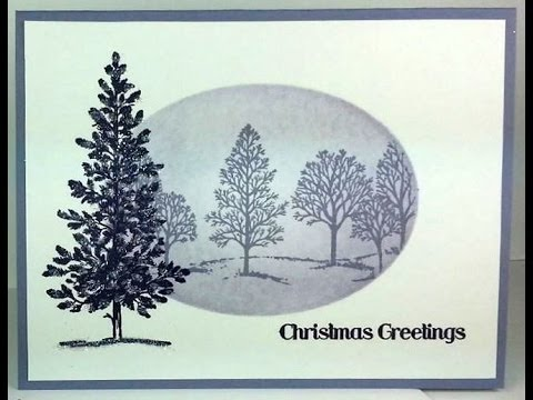 christmas cards with tree