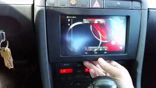 audi a4 2006 nexus 7 tablet android in dash installation