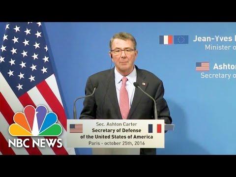 Defense Secretary On Battle In Mosul: 'Proceeding As Planned' | NBC News
