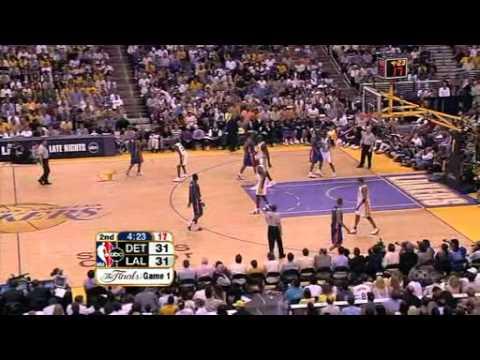 Kobe Bryants Defense on Rip Hamilton Game 1, 2004 Finals
