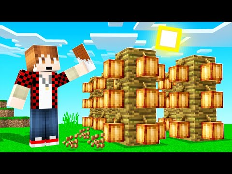 How to Build a MINECRAFT Chocolate FACTORY! (skyblock tips)