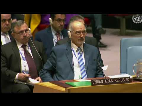 UNSC: (Part1) Emergency Meeting on Assad's Use Of Chemical Weapons In Syria.