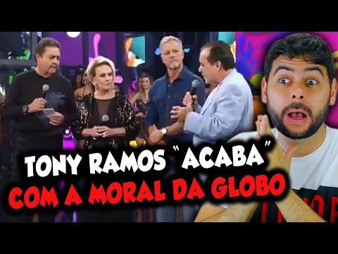 Tony Ramos coloca GLOBO no seu devido lugar no programa do Faustão