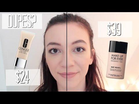 Makeup Forever Mat Velvet Vs Clinique Oil Free Matte