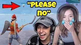 *EVIL TROLL* on POKIMANE!! (Throwing Her Off The Map in Fortnite)