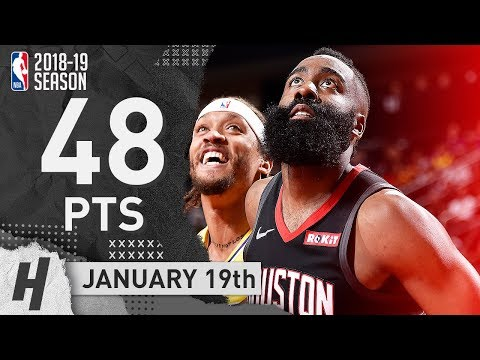 James Harden MVP Full Highlights Rockets vs Lakers 2019.01.19 - 48 Pts, 8 Reb, 8 Threes!