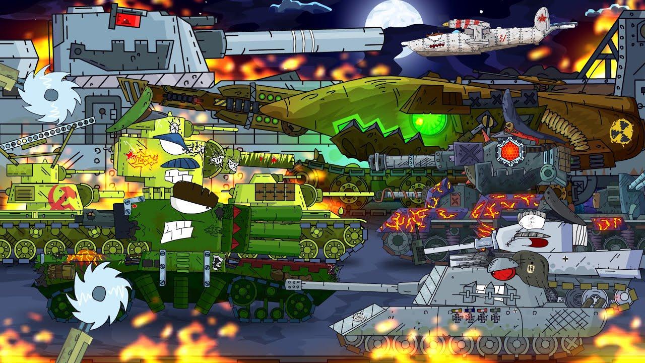 Все серии советского монстра КВ-6 - Мультики про танки