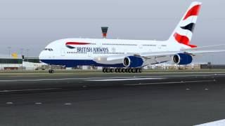 British Airways - New Airbus A380 - LHR - X-Plane 10