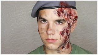 Voják popálený kyselinou/ Soldier Acid Burns MAKEUP TUTORIAL | Markéta Venená