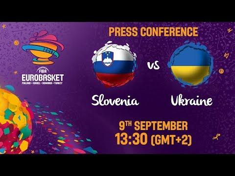 Slovenia v Ukraine - Round of 16 - Press Conference - FIBA EuroBasket 2017