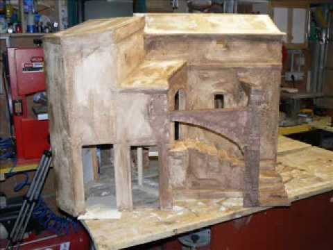 Come costruire casette di cartone per il presepe ...