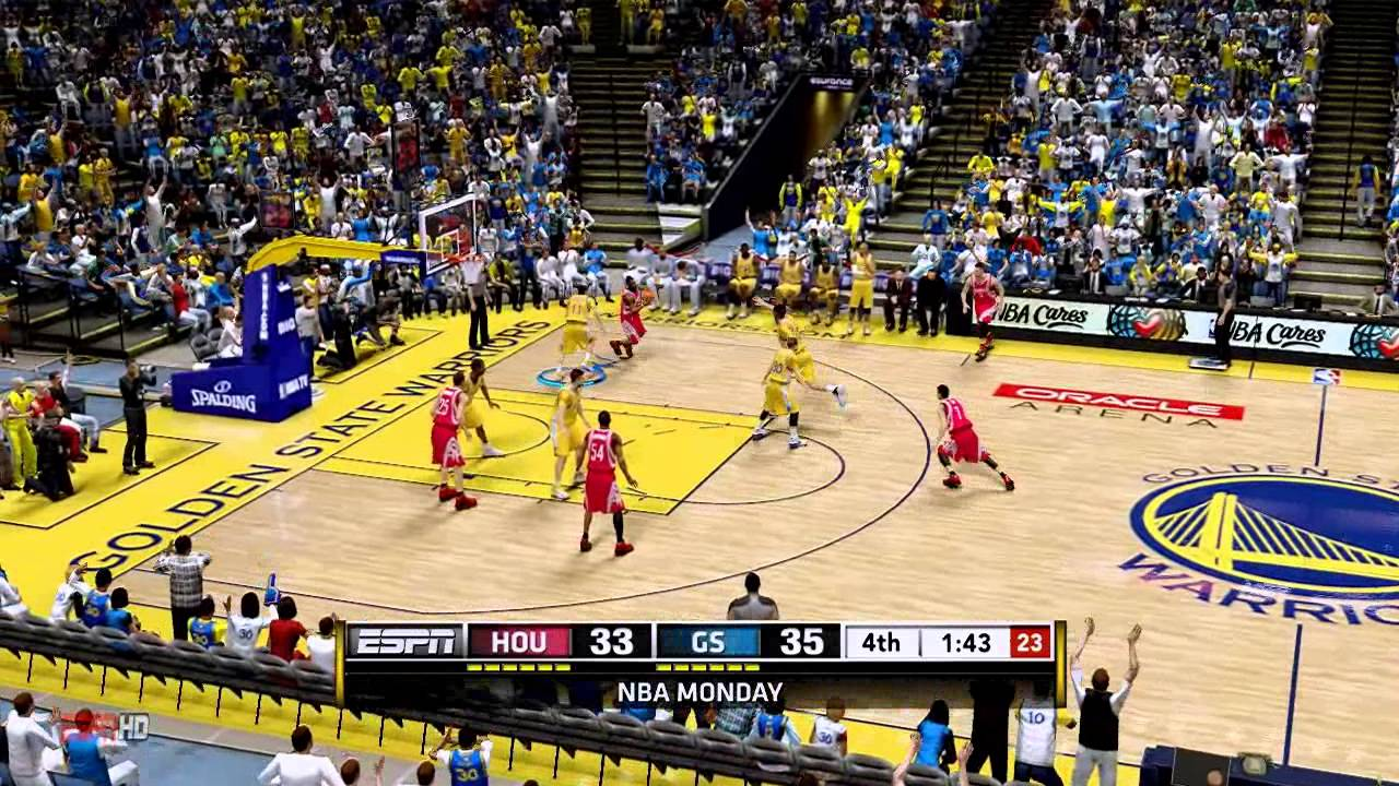 NBA 2K13: ESPN TV Gameplay HOU vs GS - YouTube