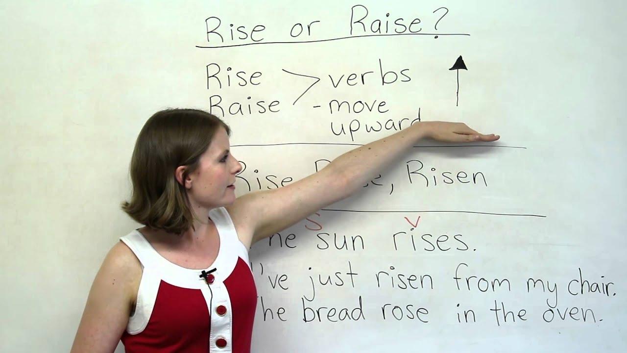 Grammar Mistakes - RISE or RAISE?
