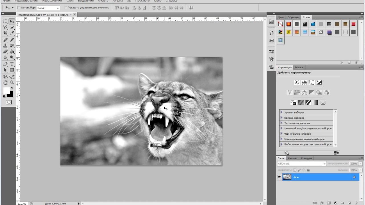 Как сделать картинки в ворде черно белыми