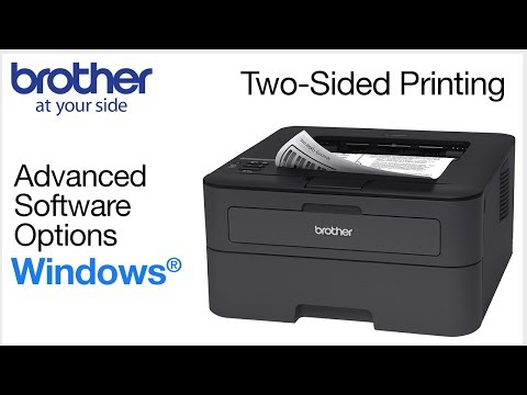 Duplex printing from Windows® - Brother printers