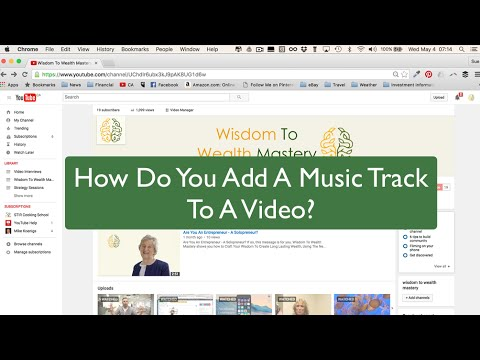 How To Add Music To A Video From The YouTube Audio Library