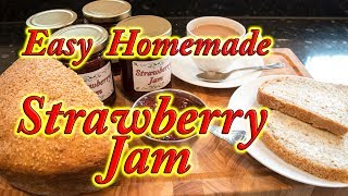 Strawberry Jam homemade easy step by step instructions