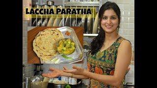 Laccha Paratha - indisches Brot - indisch Kochen