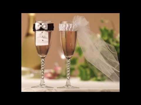 Видео Свадебные бокалы своими руками фото