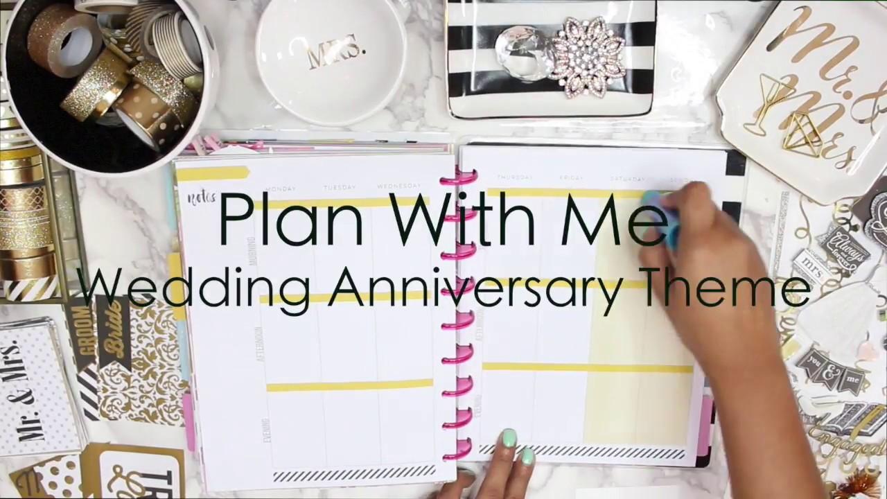 Plan With Me Wedding Anniversary Theme Youtube