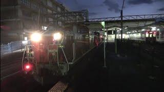 DD51形重連牽引のロンチキ10両編成の米子駅発着・入換作業を撮影(2020/9/19)