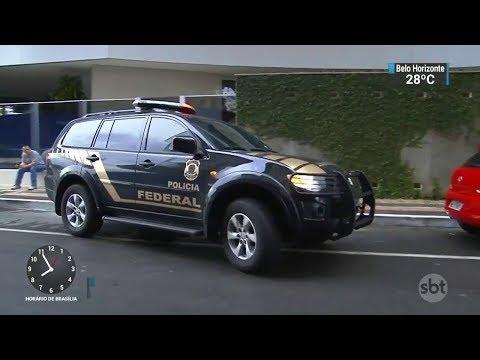Operação de combate ao tráfico internacional de cocaína prende suspeitos   SBT Brasil (10/10/17)