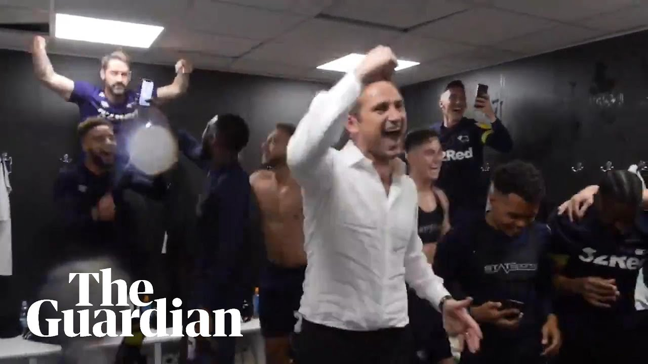 'Stop crying, Frank Lampard': Derby County mock Leeds song in victory celebrations