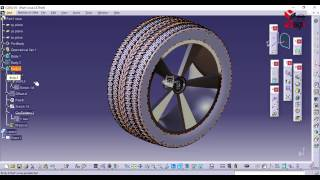 Dessiner un pneu d'une roue simplement Catia v5 - design a Wheel Tire easily