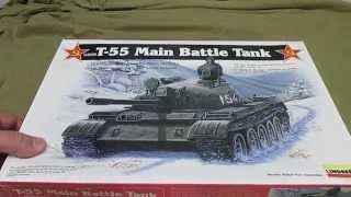 Lindberg Models 1/35 USSR T-55 Tank Model Kit Review Kit # HL415/12.