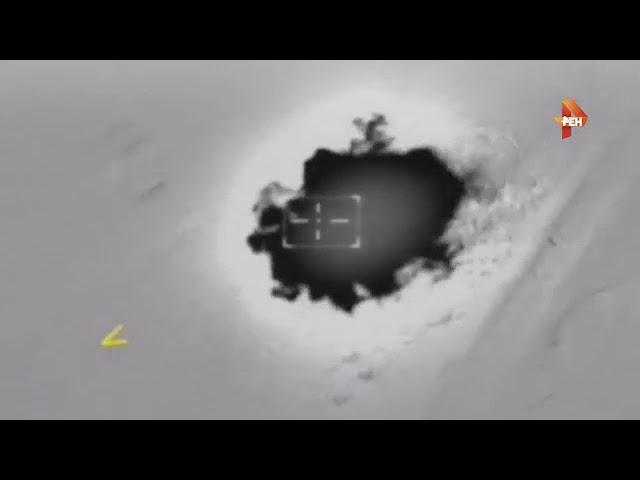 Удар ВКС России по боевикам в районе города Акербат