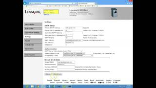 lexmark scan to email and address book