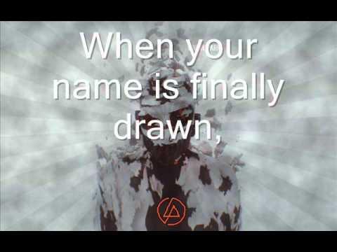 Linkin Park - Skin To Bone HQ Lyrics on screen