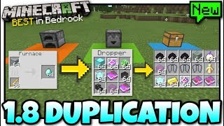 Minecraft - 1.8 DUPLICATION GLITCH [ Anything + XP ] MCPE / Xbox / Bedrock