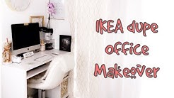 INEXPENSIVE HOME OFFICE MAKEOVER AND DESK TOUR