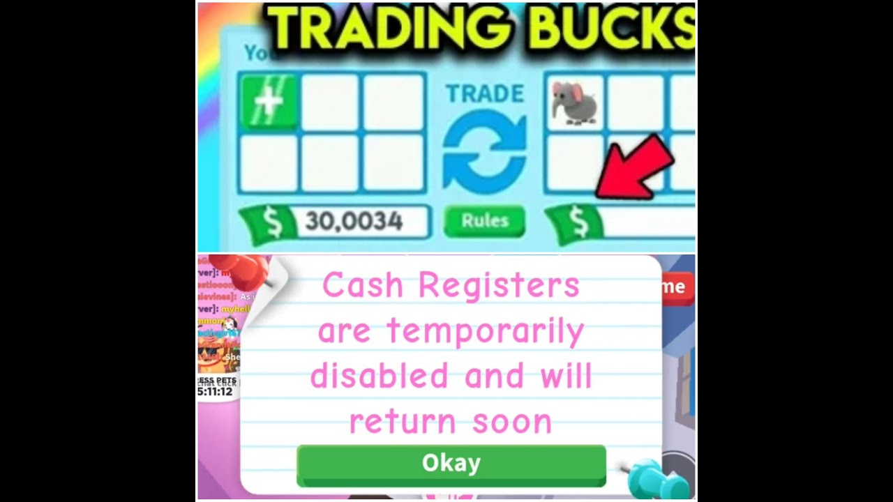 Why The Cash Register Is Disabled In Adopt Me Roblox Youtube