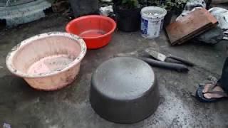 Cách Đổ chậu cảnh xi măng trồng cây cảnh tết 2019