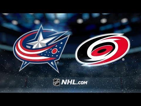 Columbus Blue Jackets Vs. Carolina Hurricanes | NHL Game Recap ...