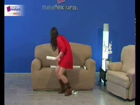 C mo colocar una funda de sof el stica youtube - Fundas de sofa modernas ...
