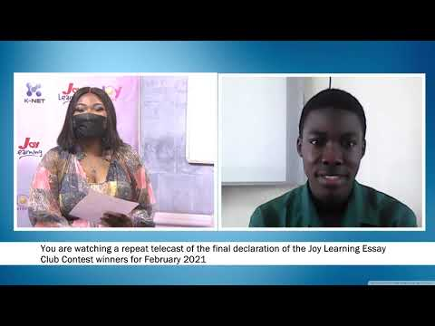 Joy Learning  Essay Club Finale