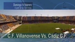 Promo Fútbol EN DIRECTO - Villanovense Vs. Cádiz CF 14-02-16 @Carranza10TV