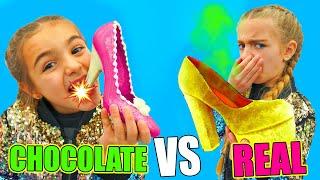 REAL VS CHOCOLATE LAS RATITAS Gisele y Claudia